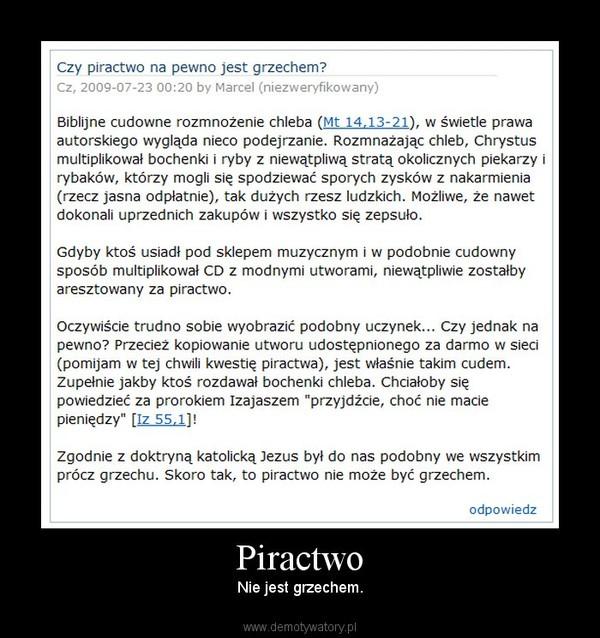 Zdjęcie użytkownika CWIRRED w temacie Dyskusja na temat piractwa komputerowego i tego czy jest ono jest kradzieżą