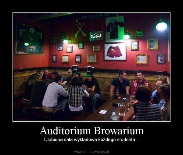 Auditorium Browarium – Ulubiona sala wykładowa każdego studenta...