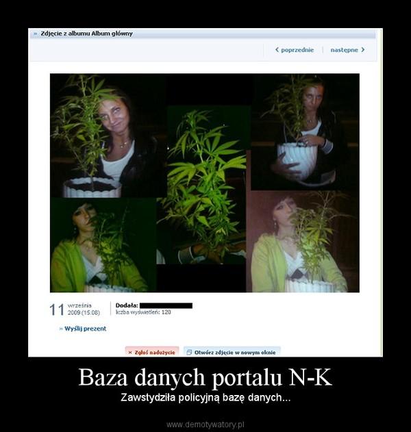 Baza danych portalu N-K – Zawstydziła policyjną bazę danych...