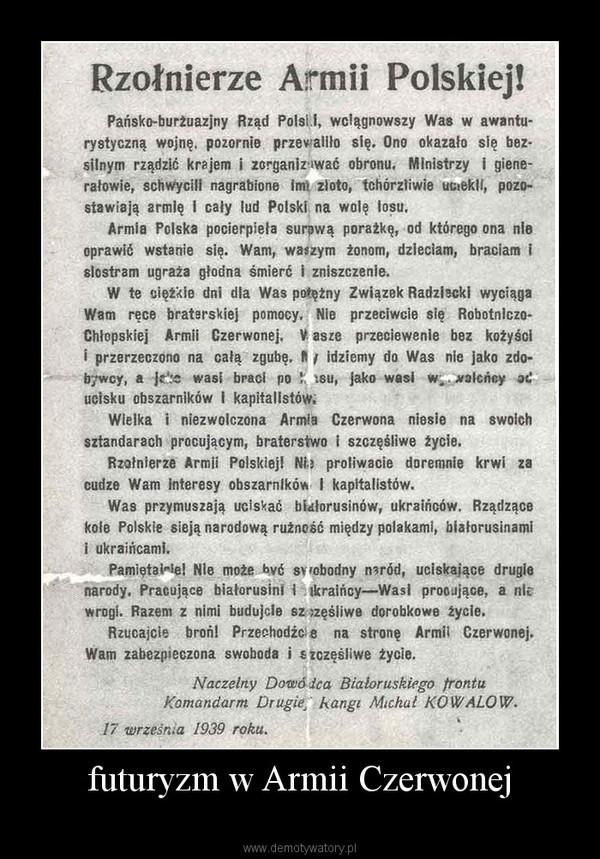 futuryzm w Armii Czerwonej –