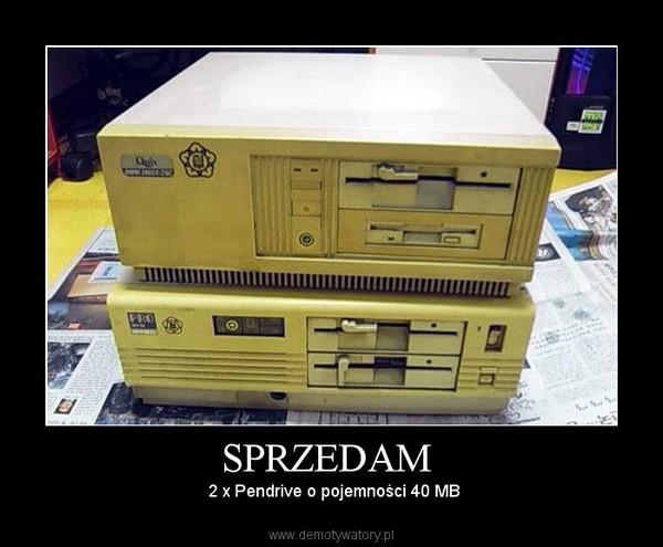 SPRZEDAM  –  2 x Pendrive o pojemności 40 MB
