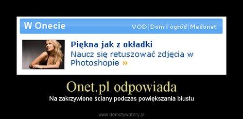 Onet.pl odpowiada