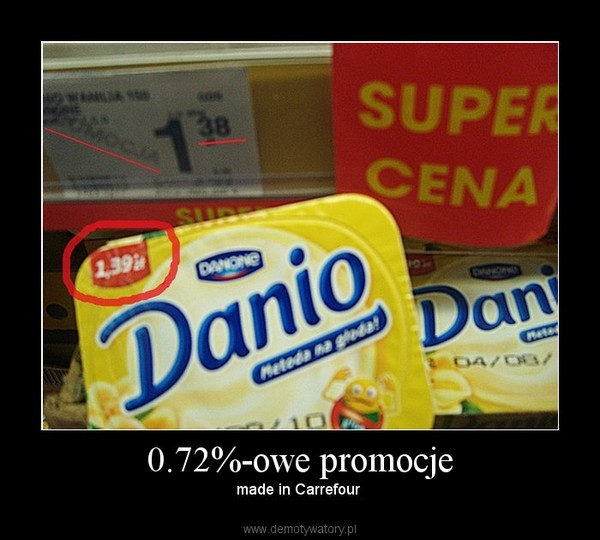 0.72%-owe promocje – made in Carrefour