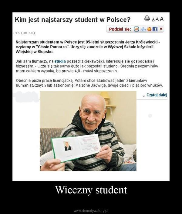 Wieczny student –
