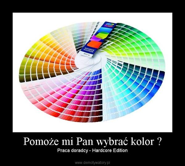 Pomoże mi Pan wybrać kolor ? – Praca doradcy - Hardcore Edition
