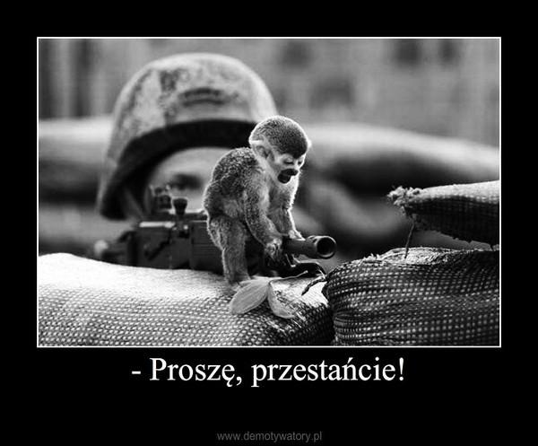 - Proszę, przestańcie! –