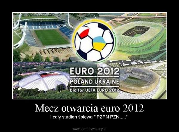 """Mecz otwarcia euro 2012 – i cały stadion śpiewa """" PZPN PZN....."""""""
