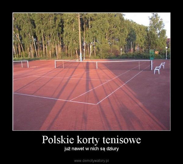 Polskie korty tenisowe –  już nawet w nich są dziury