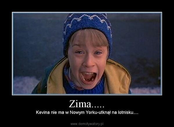 Zima..... – Kevina nie ma w Nowym Yorku-utknął na lotnisku....