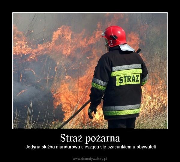 Straż pożarna – Jedyna służba mundurowa ciesząca się szacunkiem u obywateli