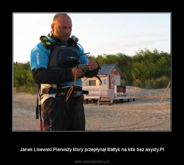Polacy są najlepsi! – Janek Lisewski.Pierwszy który przepłynął Bałtyk na kite bez asysty.Pl