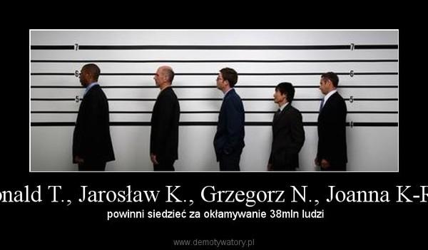 Donald T., Jarosław K., Grzegorz N., Joanna K-R... – powinni siedzieć za okłamywanie 38mln ludzi