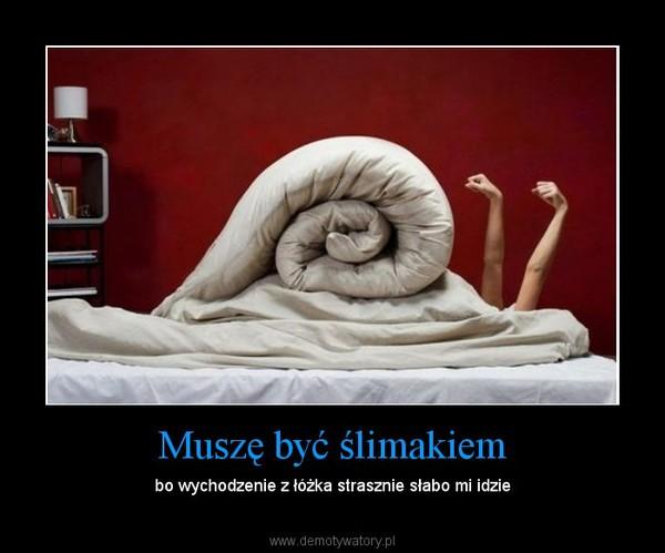 Muszę być ślimakiem – bo wychodzenie z łóżka strasznie słabo mi idzie