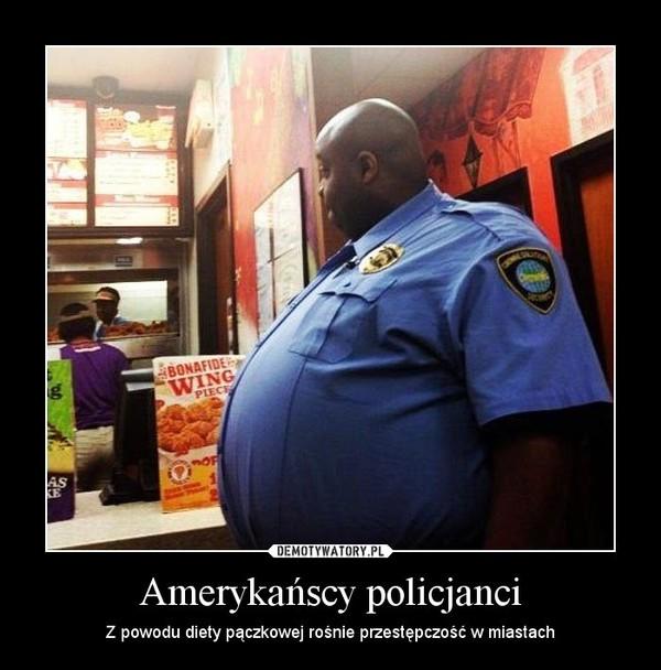 Amerykańscy policjanci – Z powodu diety pączkowej rośnie przestępczość w miastach