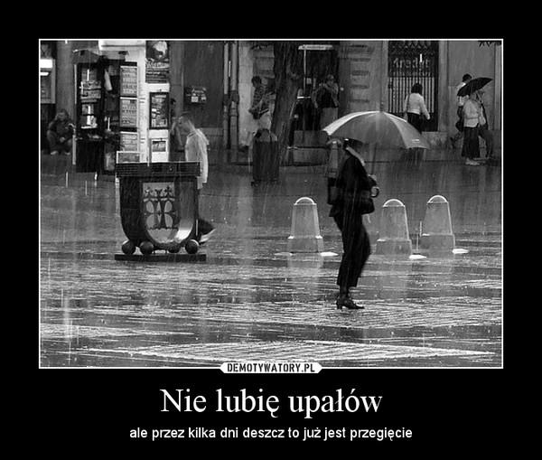 Nie lubię upałów – ale przez kilka dni deszcz to już jest przegięcie