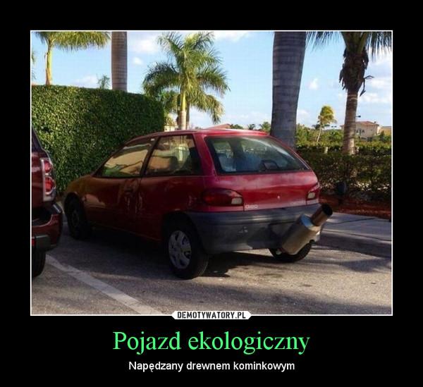 Pojazd ekologiczny – Napędzany drewnem kominkowym