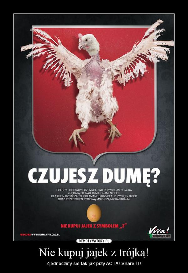 Nie kupuj jajek z trójką! – Zjednoczmy się tak jak przy ACTA! Share IT!