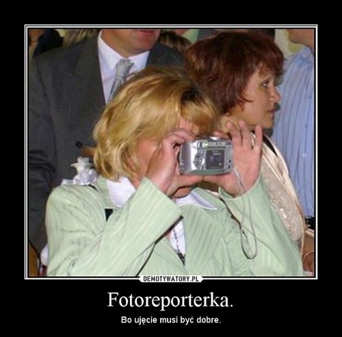 Fotoreporterka.