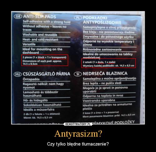 Antyrasizm?