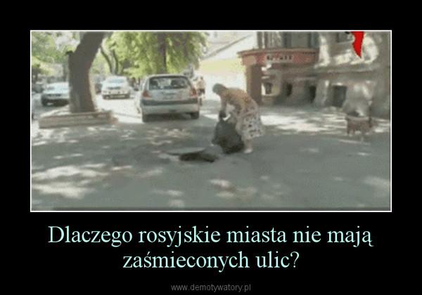 Dlaczego rosyjskie miasta nie mają zaśmieconych ulic? –