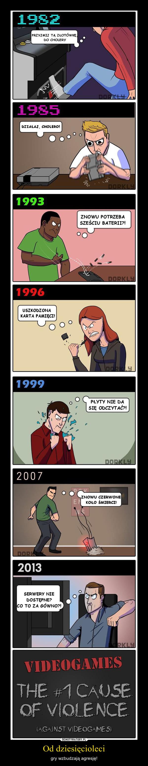 Od dziesięcioleci – gry wzbudzają agresję!