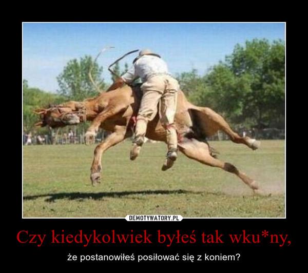 Czy kiedykolwiek byłeś tak wku*ny, – że postanowiłeś posiłować się z koniem?