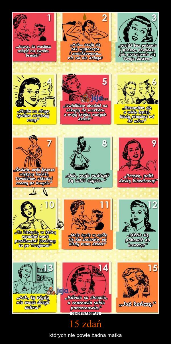 15 zdań – których nie powie żadna matka