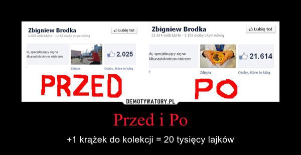 Przed i Po – +1 krążek do kolekcji = 20 tysięcy lajków