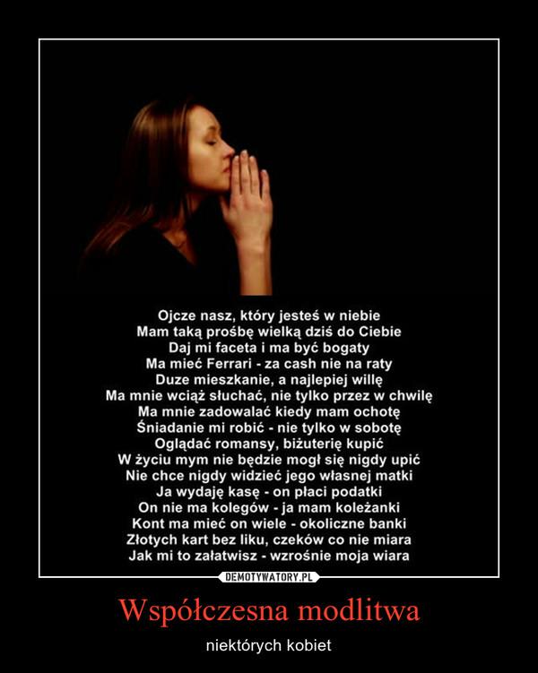 Współczesna modlitwa – niektórych kobiet