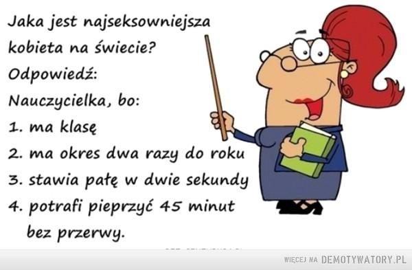 Nauczycielka –