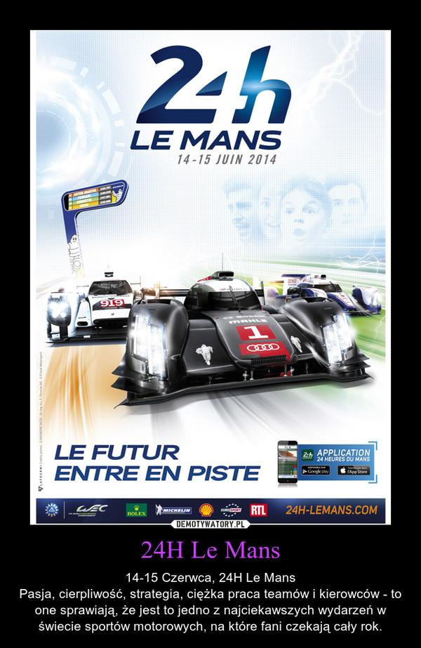 24H Le Mans – 14-15 Czerwca, 24H Le MansPasja, cierpliwość, strategia, ciężka praca teamów i kierowców - to one sprawiają, że jest to jedno z najciekawszych wydarzeń w świecie sportów motorowych, na które fani czekają cały rok.