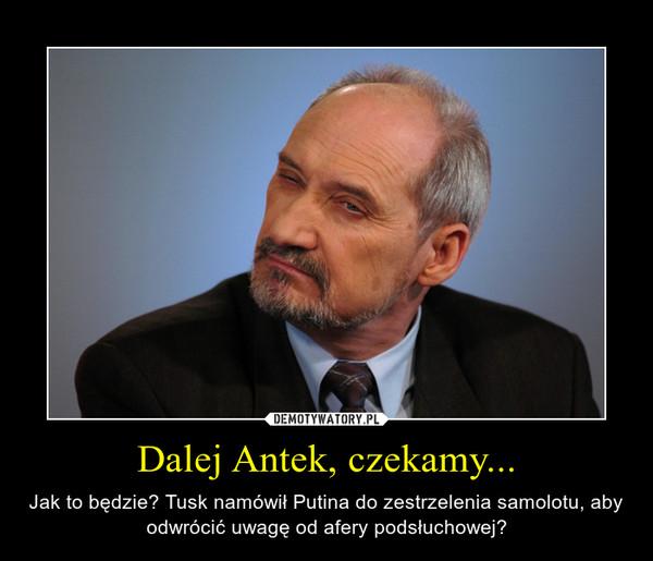 Dalej Antek, czekamy... – Jak to będzie? Tusk namówił Putina do zestrzelenia samolotu, aby odwrócić uwagę od afery podsłuchowej?