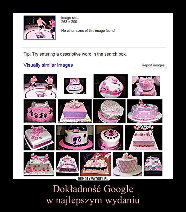 Dokładność Googlew najlepszym wydaniu –