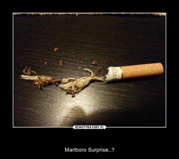 Marlboro Surprise..? – Marlboro Surprise..?