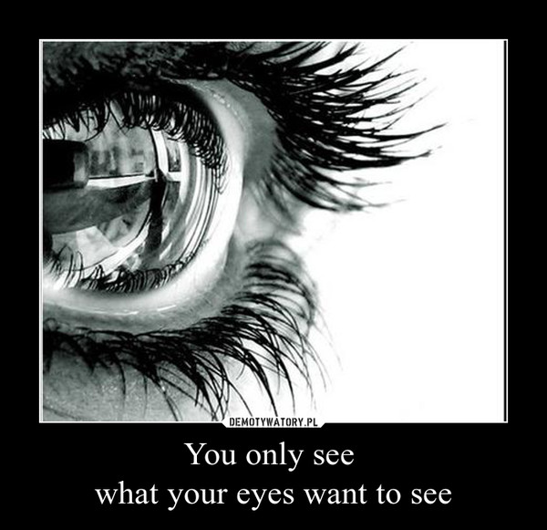 You only see what your eyes want to see –