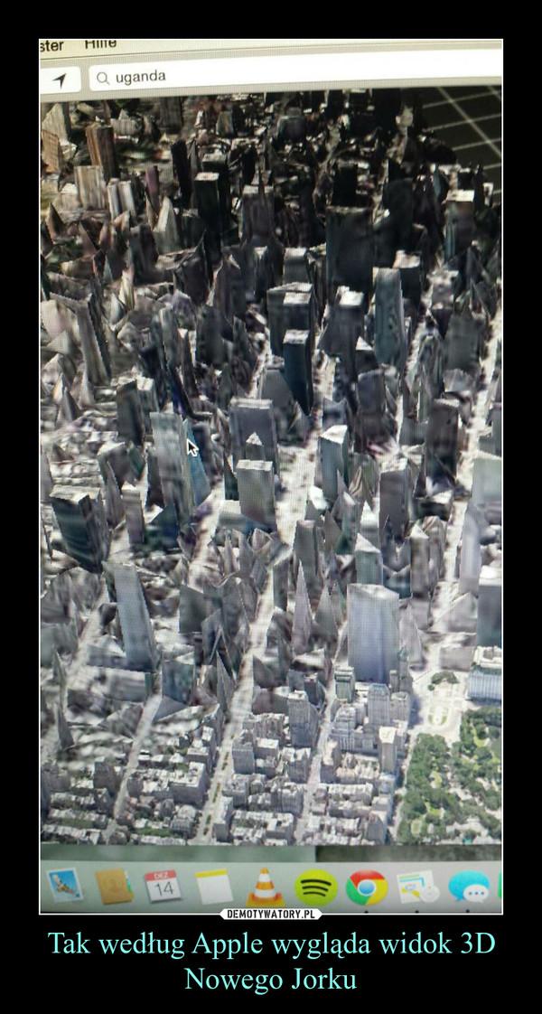 Tak według Apple wygląda widok 3D Nowego Jorku –