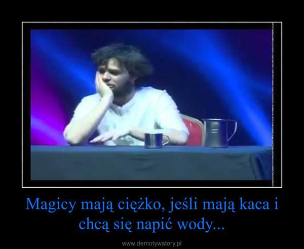 Magicy mają ciężko, jeśli mają kaca i chcą się napić wody... –
