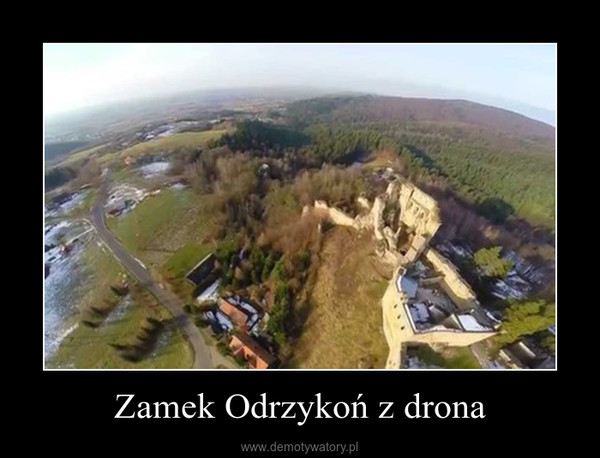 Zamek Odrzykoń z drona –