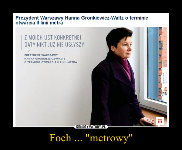 Foch ... ''metrowy'' –