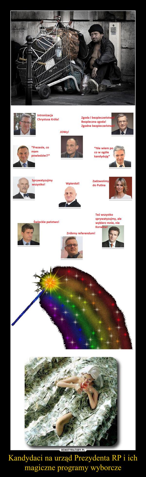 Kandydaci na urząd Prezydenta RP i ich magiczne programy wyborcze –