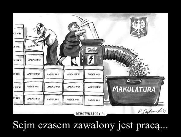 Sejm czasem zawalony jest pracą... –