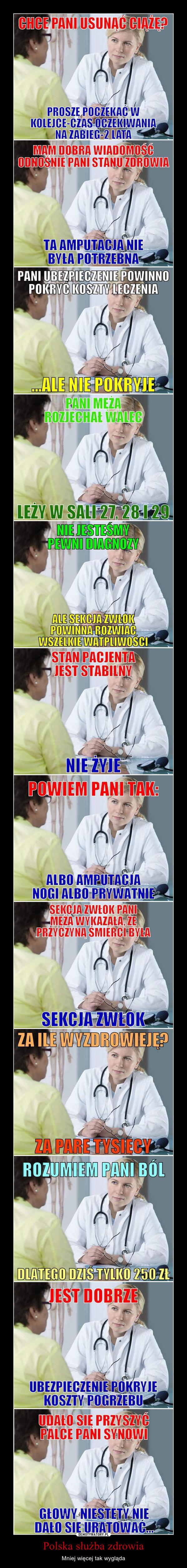 Polska służba zdrowia – Mniej więcej tak wygląda