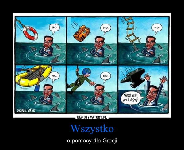 Wszystko – o pomocy dla Grecji