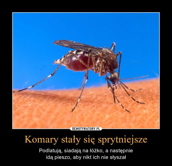 Komary stały się sprytniejsze – Podlatują, siadają na łóżko, a następnieidą pieszo, aby nikt ich nie słyszał