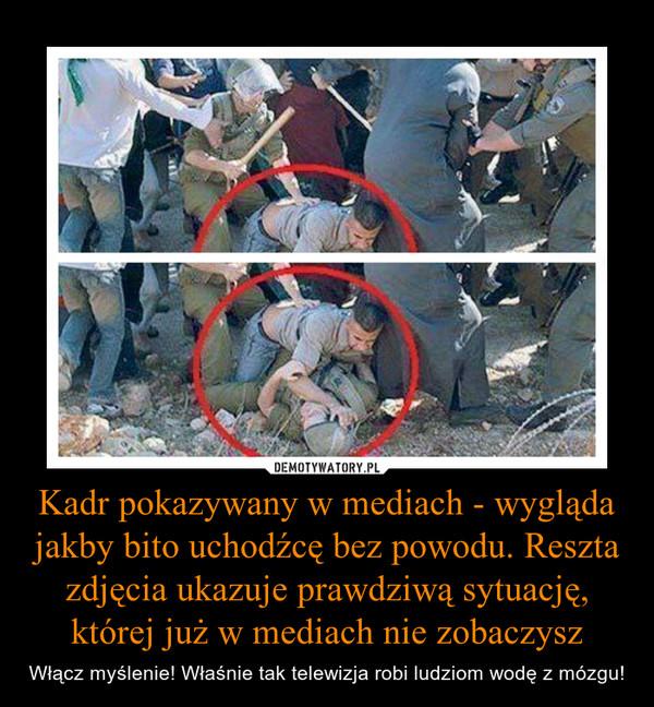 Kadr pokazywany w mediach - wygląda jakby bito uchodźcę bez powodu. Reszta zdjęcia ukazuje prawdziwą sytuację, której już w mediach nie zobaczysz – Włącz myślenie! Właśnie tak telewizja robi ludziom wodę z mózgu!