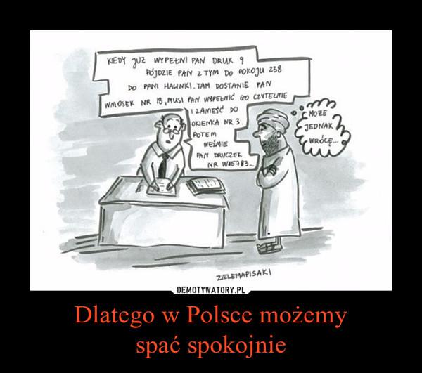 Dlatego w Polsce możemyspać spokojnie –