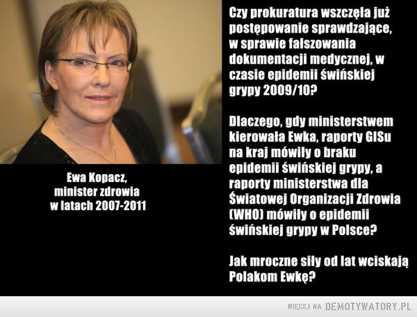 Minister Zdrowia Ewa Kopacz –