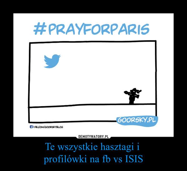 Te wszystkie hasztagi i profilówki na fb vs ISIS –