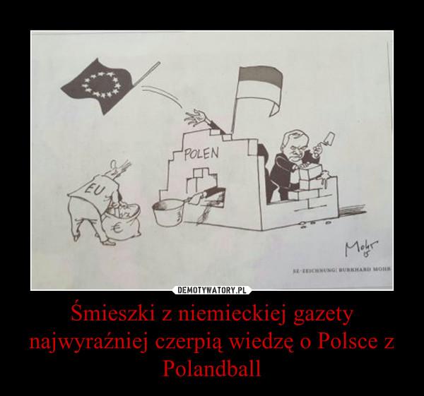 Śmieszki z niemieckiej gazety najwyraźniej czerpią wiedzę o Polsce z Polandball –