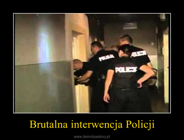 Brutalna interwencja Policji –